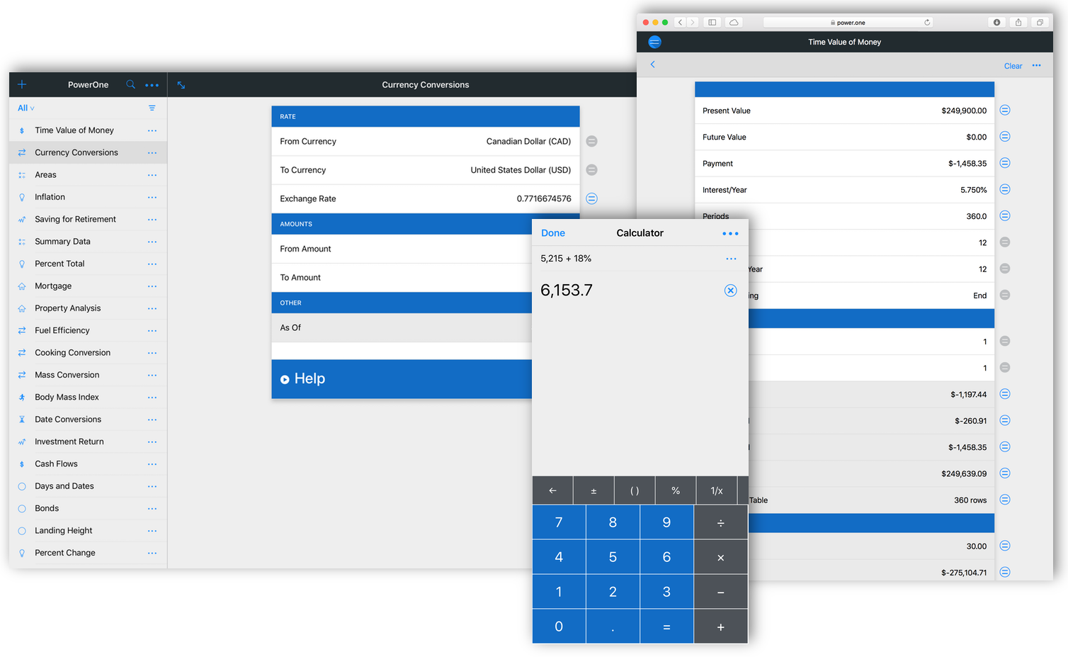 Infinity Softworks: powerOne for iPhone, iPad and iPod Touch